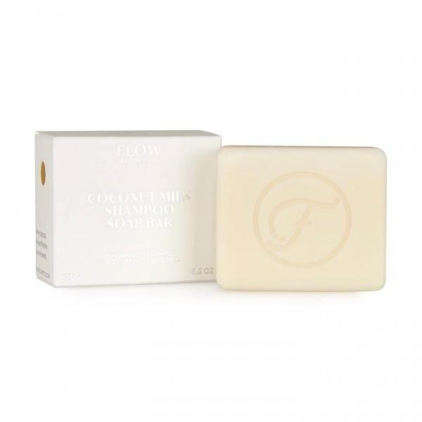 FLOW COSMETICS Coconut Milk Shampoo Soap Bar 120g pour les cheveux secs et épais