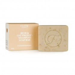 FLOW COSMETICS Beer Oat Protein Shampoo Soap Bar 120g pour cheveux fins