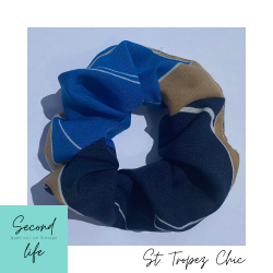 SECOND LIFE Scrunchie Made out of Vintage : St.Tropez Chic