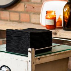 SCRUMMI Essential Waffle Hair Towels Black – 700 Serviettes Jetables Noires