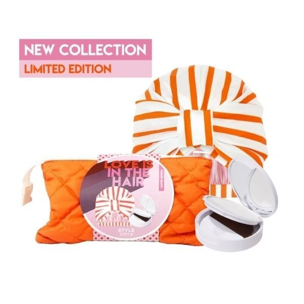 STYLEDRY Turban Shower Cap & Compact Powder Love is in the Hair Set
