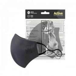 NEQI Active Face Mask M-L Grey (2 pieces)