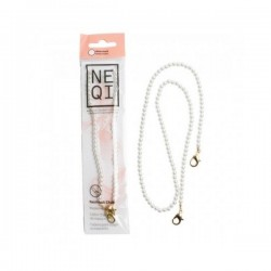 NEQI Mask Chain White Pearls