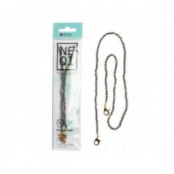 NEQI Mask Chain Gray Pearls