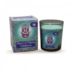 Green Tree Hand Of Fatima Scented Candle